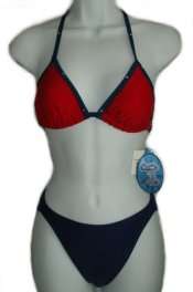 GOSSIP 2 Piece Red Blue Bikini - Small