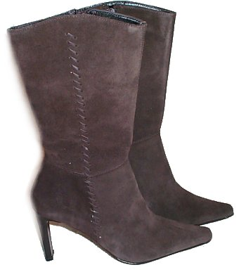 KENNETH COLE Brown Suede Leather Boots - 7.5