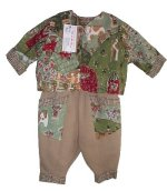 "GOTTA B ME Boutique ""LIFE ON THE FARM"" Pants & Jacket Outfit - Infants 6/12"