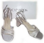 CAPARROS Platinum Silk FLING Dress Shoes - Size 7.5