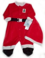 LITTLE ME Santa Suit and Hat - 3 mos