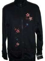 ERIKA Collection Velour Embroidered Jacket- Small