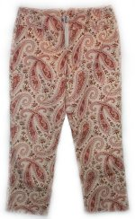 EXPRESS Low Waist Paisley Stretch Capris Pants - Size 1/2