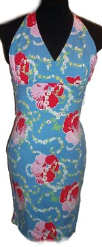 TOMMY HILFIGER Tropical Print Stretch Halter Dress -Misses XS- BRAND NEW