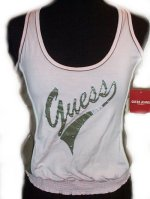 GUESS Jeans Racer Back Tank Top - Jrs Large