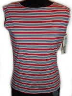 J. SUZETTE and COMPANY Sleeveless Striped Top - Misses Small - BRAND NEW!
