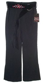 TRACY EVANS LIMITED Black Dress Pants w/ Belt -Jrs 9