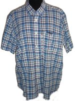 TOMMY HILFIGER Short Sleeve Button Front Shirt - XL