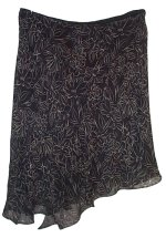 STUDIO M 100% Silk Asymetrical Skirt - XL