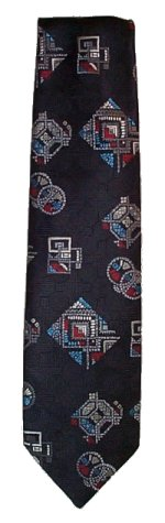 YVES SAINT LAURENT Paris Geometric Textured Tie - 54 x 4
