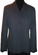 BANANA REPUBLIC 100% Silk Charcoal Lined Jacket - Misses 8