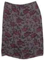 CHARTER CLUB Fully Lined Floral SILK Skirt - Misses 12
