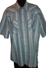 WEST 49 Short Sleeve WESTERN Styled Shirt - Mens Extra Large