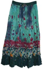 PAPAYA MOON Krinkle Print Skirt - One Size