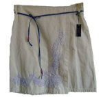TOMMY HILFIGER Beautiful Floral Embroidered Wrap Skirt - Medium