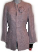ALFANI Hyde Park Textured Lilac Tweed Fully Lined Jacket - Misses 8, Petites 4