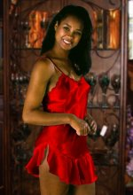 Red Satin Babydoll Chemise Nightgown - Misses S,M,L - NEW