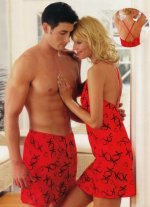 Kisses and Hugs Red XOXO Mens Boxers / Boxer Shorts - Mens Large - NEW!