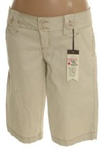 LEI L.E.I. Stretch Cotton Low Waist Bermuda Shorts - Jrs 0, 7 - BRAND NEW