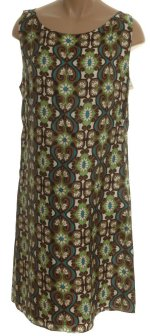 STUDIO M 100% Silk Fully Lined Retro Sleeveless Slip Dress - Petite M