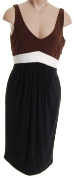 JONES NEW YORK JNY Color Blocked Jersey Sleeveless Dress - Misses 8