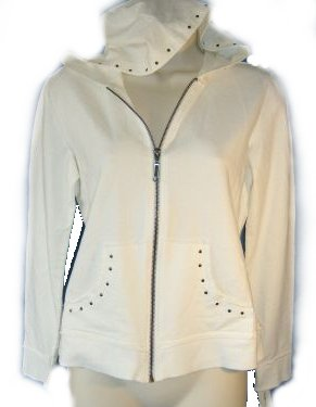 STYLE & CO French Terry Zip Front Hoodie - PS