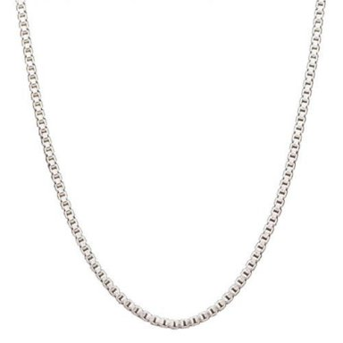 Sterling Silver 925 Box Chain - 1mm - 24""
