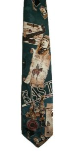 BILL BLASS 100% Silk Historical Themed Patterned Tie - 59 x 4