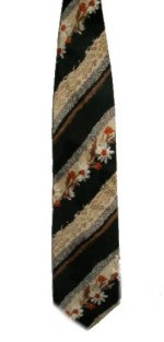 SAZZARI 100% Silk Floral & Striped Tie - 58 x 4