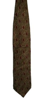 PIERRE CARDIN 100% Silk Geometric Patterned Tie - 60 x 4