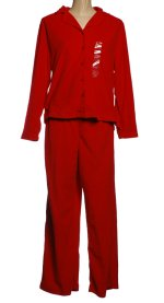 CHARTER CLUB Red Micro-Fleece Pajamas - Large