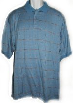 GEOFFREY BEENE Mercerized Cotton Golf Polo Style Shirt Top - Mens L