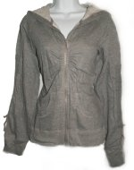 UNIONBAY Grey Zip Front Fitted Hoodie - Jrs L