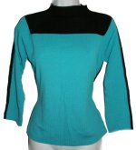 JOSEPH A. Fine Knit Color Blocked Sweater - Large