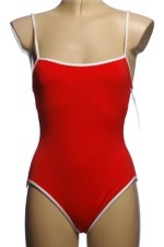LA BLANCA by Rod Beattie Red & White 1 Piece Swimsuit - Misses 6 - NEW