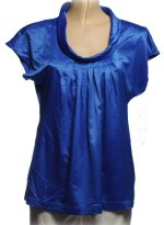 SUNNY LEIGH Silk-Like Top Blouse - Small Petite