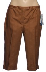 NINE WEST Dressy Brown Bermuda Shorts - 6