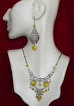 Alpaca Silver & Gemstone Necklace, Earring & Bracelet Set