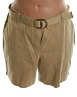 JONES NEW YORK JNY Flat Front Brushed Cotton Shorts