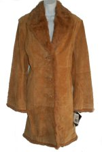 ADLER COLLECTION Genuine Leather & Fur Car Coat - XL