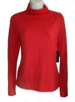JONES NEW YORK JNY Signature Collection Modal Mock Neck Long Sleeve Top - Misses M