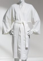 ORGANIC Cotton Interlock Knit Pure White Bathrobe - One Size