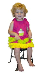 BIZZY BUMPKINS Girls Birthday Cupcake Themed Ruffled Dress ~ Girls 6 Mos - 5 Yrs