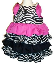 BIZZY BUMPKINS Girls Zebra Animal Print & Hot Pink Ruffled Rhumba Dress ~ Girls 6 Mos - 8 Yrs