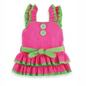 MUDPIE Girls Pink Ruffled Rhumba Dress ~ Girls 12 mos - 3T