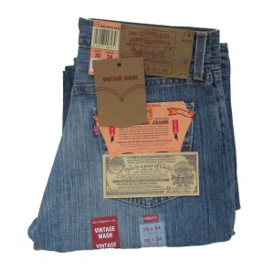 LEVI'S 501 Men's Button Fly Vintage Wash Jeans 30 x 34