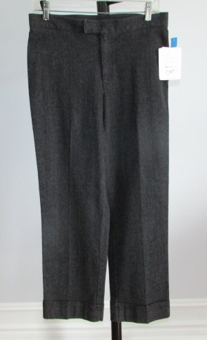 LIZ CLAIBORNE Black Cuffed Ankle Denim Pants - 8