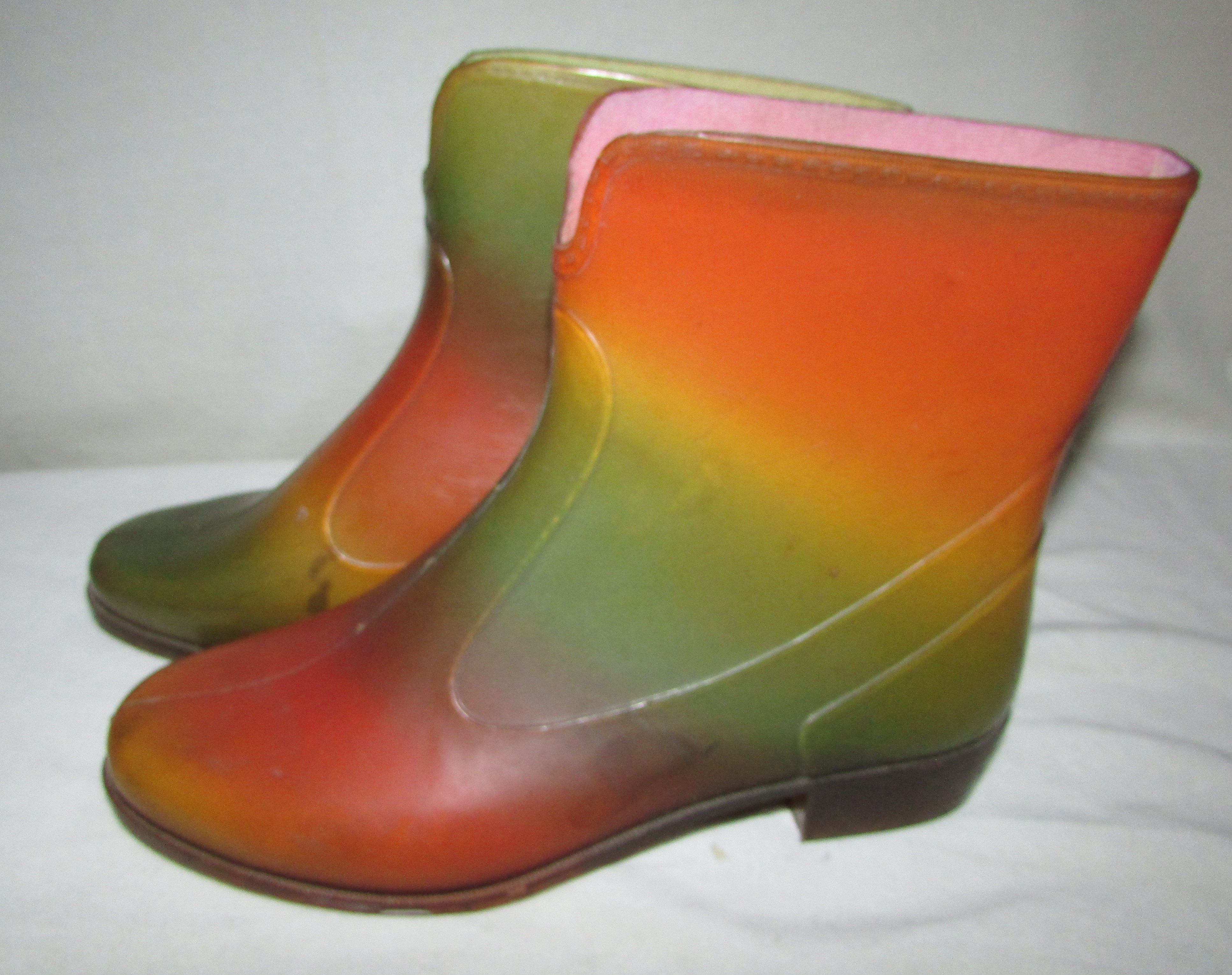 SARRIAZIENNE Vintage Rainbow Jelly Ankle Booties EUR 38