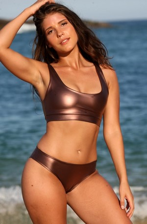 KARINIA 2 Pc Bronze Sporty Bikini