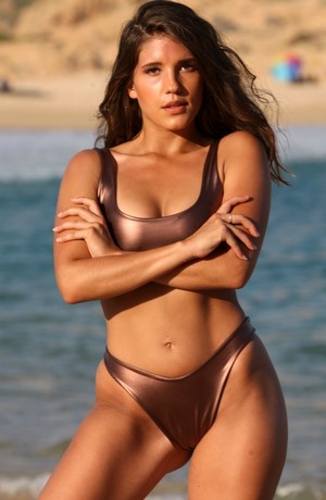 BIANCA 2 Pc Bronze Sporty Thong Bikini
